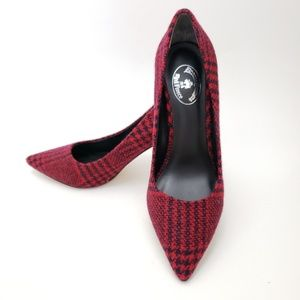 Brooks Brothers Wool Red Plaid Pumps Size 8